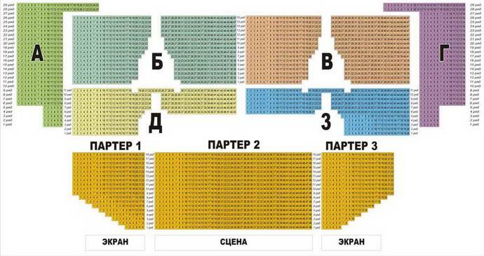 Схема зала во дворце спорта в минске